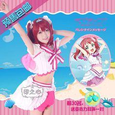 Love Live Sunshine Aqours Tsushima Yoshiko Aquarium Cosplay Costume summer dress