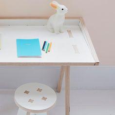 child's desk & stool by www.plyconic.com #plyconic #kidsdesk #kidsstool #kidsfurniture #kidsinteriors