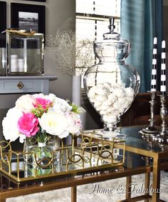 A Gold Tray Like This One From Homegoods Is Always Great Way To Give Accent Decordining Room