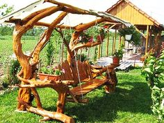 Swings are fun garden furniture that transforms yards and adds lots of fun to outdoor home decorating