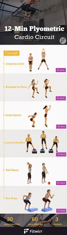 12 Minute Plyometric Cardio Circuit | Remediesly