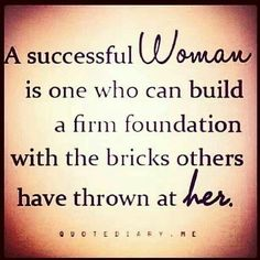 And not just women, this applies to ALL people...