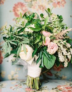 like the idea of mint in a bouquet.