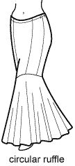 Dinas Bellydance Costume Galleries.  How to make a mermaid skirt!  This shows more than 1 way.