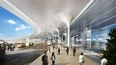 Airport Design, Ground Transportation, Mall Design, Futuristic City, Design Competitions, Under Construction, Shopping Mall, Amazing Architecture, Photoshop