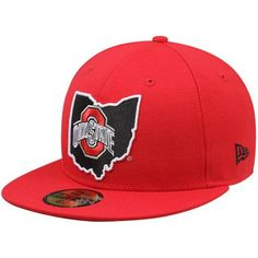 New Era Ohio State Buckeyes State Fitted Hat - Scarlet c423708b211b