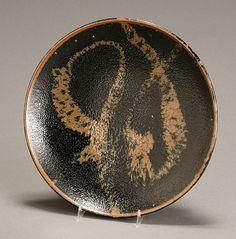 HAMADA, Shoji (Japanese 1894-1978) _ Tenmoku _ with iron rust swirls