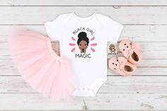 Black Girl Magic Baby Girl Onesie® / Toddler Shirt - Custom BLM Onesie - Black Girl Magic - Black Lives Matter Baby Onesie® Toddler T-Shirt