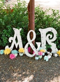 Gin, above the bar??   Wedding Package of 3 - 24 in. Cut-Out Letters Initials as seen in Brides Northern CA Any Letter A - Z on Etsy, $129.95
