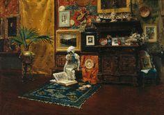 William Merritt Chase, Studio Interior, c. 1882, oil on canvas, 71.2 x 101.9 cm, Brooklyn Museum, New York. #ArtCanInstitute #CanadianArt