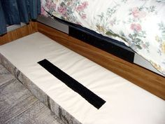 Add velcro to the back of cushions so they are not always falling forward...GENIUS!