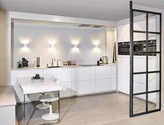 Kitchen Lighting, Home Kitchens, Divider, Sweet Home, Lights, Interior, Table, Studio, Room