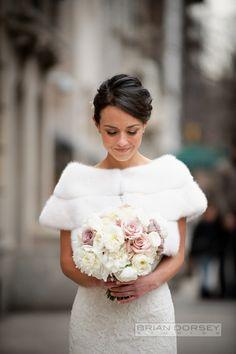 Sophisticated New York Wedding with Warm Amber Lighting from Brian Dorsey Studios. - wedding dress