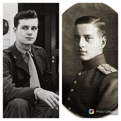 Right:: GD Dmitry Pavlovich Romanov. The murderer of Rasputin. Lover to Co Co Chanel. One of true descendants to Russian crown. Left:: His son Paul (Pavel Dmitrievich). The colonel of US Army. Major of Palm Beach, Florida ~