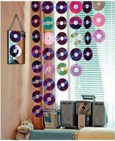 decoração com disco de vinil - Pesquisa Google