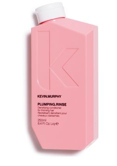 PLUMPING.RINSE - Kevin.Murphy  A thickening conditioner. Lovely Hemsleya Root rich in Oleanolic Acid, nourishes and restores for thicker, stronger hair.  How to use: Apply to freshly washed hair, leave for 1- 2 minutes then rinse.  Benefits: Hydrating, Protective and strengthening, Maintains hair in growth phase, Thickening, Helps prevent hair loss and damage from DHT