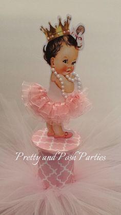 Precious Little Pink TuTu Baby Centerpiece by PrettyandPoshParties