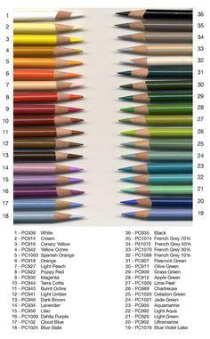 36 Ideal Prismacolor Pencil Colors