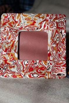 Mokume Gane picture frame on TTE Designs at Art Fire $10