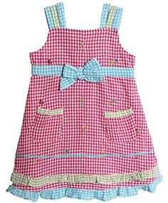 BT Kids Baby Girls 1 Piece Fuchsia Pink Blue Gingham Sundress Petticoat *** Visit the image link more details.