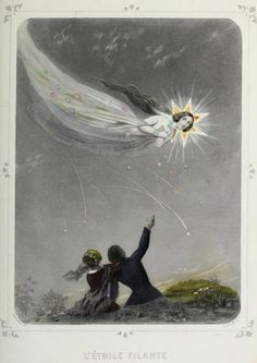 L'etoile filante. The shooting star. Les étoiles. 1849.