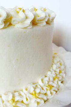 Triple Lemon Cake –I think this one is the winner!