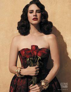 Lana Del Rey Gets Romantic for L'Officiel Paris' April 2013 Cover Shoot