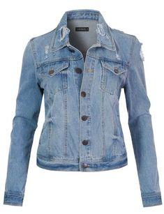 Womens Lightweight Raglan Long Sleeve Zip Up Ribbed Thermal Hoodie Jacket Long Blazer Jacket, Cropped Denim Jacket, Anorak Jacket, Ripped Denim, Distressed Denim, Skirt Suit Set, Trendy Outfits, Clothes, Midi Skirt