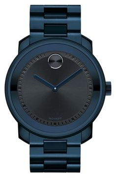 Men's Movado 'Bold' Bracelet Watch, 44mm - Navy