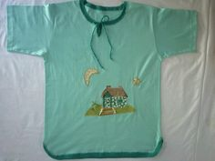 camiseta customizada pat aplique e crochet