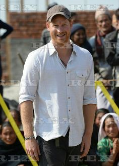 Prince Harry visit to Nepal - 22 Mar 2016 Prince Harry visits Gauda Secondary School and takes part in a volleyball match, in Okhari, Nepal 22 Mar 201