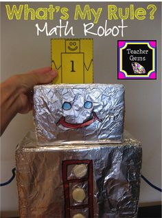 What's My Rule? Robot for math in and out boxes! Learn how to make your own!