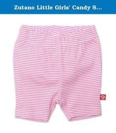 Zutano Little Girls' Candy Stripe Bike Short, Hotpink, 3T. The zutano bike short is a modern alternative to the diaper cover. A shorts version of our skinny leggings, these shorts are great for layering under dresses or pairing with shirts. Available in many print options. 100percentage interlock cotton. Imported.
