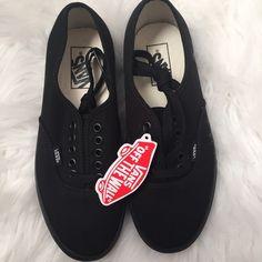 6a96e2c140 Authentic Black Vans (Women) Brand New! Vans Shoes Sneakers Vans Skateboard