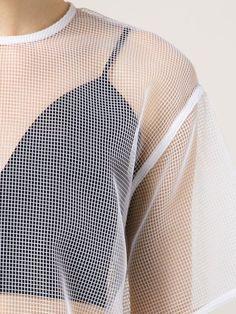 Msgm Mesh Shortsleeved Top - Laboratoria - Farfetch.com.  minimal, sportswear, minimalist, minimalism, womenswear, utility