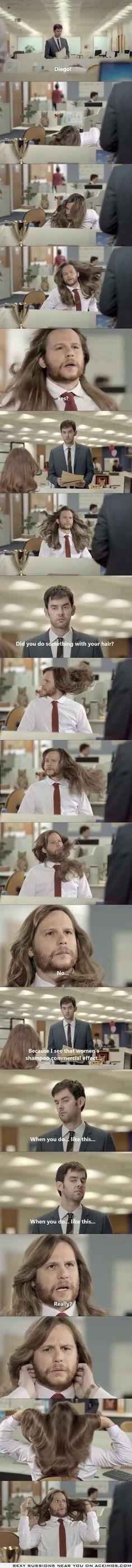 What happens when MEN use woMEN shampoo