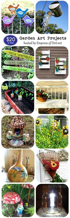Garden art projects you can make for $20 or less - great gift ideas for gardeners   www.empressofdirt.net