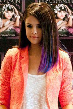 Селена гомез цветные волосы