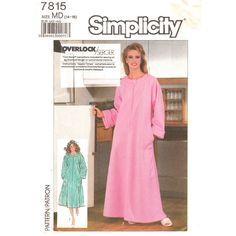 Vintage 80s Raglan Robe Pattern Simplicity 7815 Caftan Front Zipper Womens Size 14 16 UNCUT