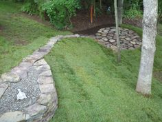 Enjoy the yard and all it has to offer when you install a #stone #stepper #walkway. Repin to show off your great taste for the yard! | Nothern VA | Drainage & Erosion Solutions