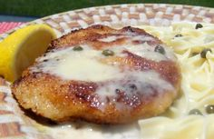 """Pork Schnitzel With Lemon-Caper Cream from Food.com: Recipe from Michaela Rosenthal, winner of The National Pork Board's """"America's Favorite Family Recipes Contest"""" in celebration of National Eat Dinner Together Week."""
