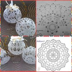 Crochet Patterns Christmas Photo only. No pattern - Salvabrani - SalvabraniAnges au crochet Plus - SalvabraniWedding Table Centerpiece Crochet Candle Holders by VasilisaSkaska - SalvabraniBeautiful eggs with crochet - SalvabraniBeautiful Crochet bells, se Christmas Tree Hooks, Crochet Christmas Decorations, Crochet Decoration, Crochet Christmas Ornaments, Christmas Crochet Patterns, Holiday Crochet, Christmas Crafts, Christmas Knitting, Christmas Bells