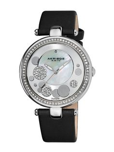 Women's Mother Of Pearl & Diamond Watch by Akribos XXIV on Gilt.com