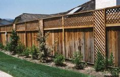 This is my new idea for the fence at the house - Spring watch out adding lattice to the top of a fence - Google Search