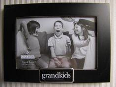 """MALDEN 4 x 6"""" Grandkids Picture Frame in Black Tabletop or Hang NWT #Malden"""
