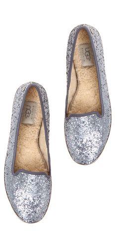 Glitter UGG flats? Yes, please!