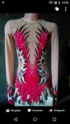 . Gymnastics Costumes, Rhythmic Gymnastics Leotards, Dance Costumes, Red Costume, Figure Skating Dresses, Beautiful Figure, Body, Skate, Formal Dresses