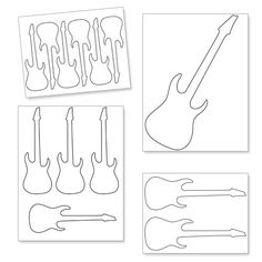 Guitar pick pattern. Use the printable outline for crafts