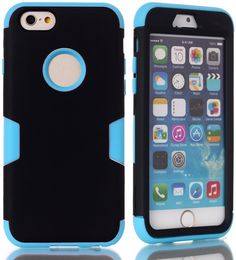 iPhone 6 / 6s 4.7 Case,DIOS CASE(TM) Heavy Duty Protection Hybrid Hard and Soft Combo 3 in 1 Durable Matte Bumper Armor Back Cover Protector for Apple iPhone 6/6s 4.7 inch (blue/black) * Find out more about the great product at the image link.