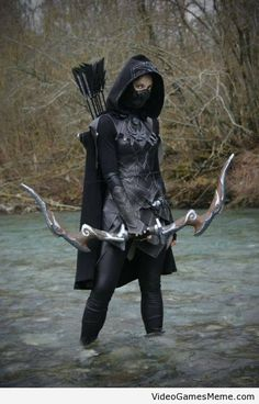 Skyrim Nightingale cosplay - http://www.videogamesmeme.com/cosplay/skyrim-nightingale-cosplay/